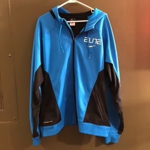 Nike Mens Black and Blue Therma-Fit Jacket Sz XL